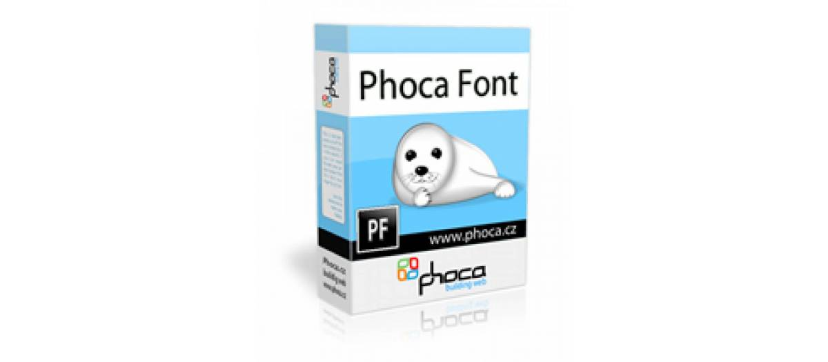 Phoca Font, by Jan Pavelka - Joomla Extension Directory