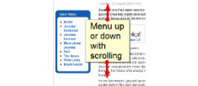 Absolute Floating Menu