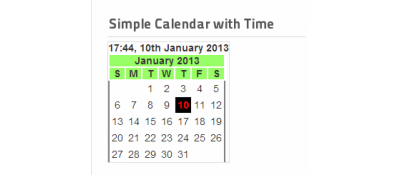 Simple Calendar With Time
