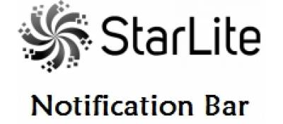 Starlite Notification Bar