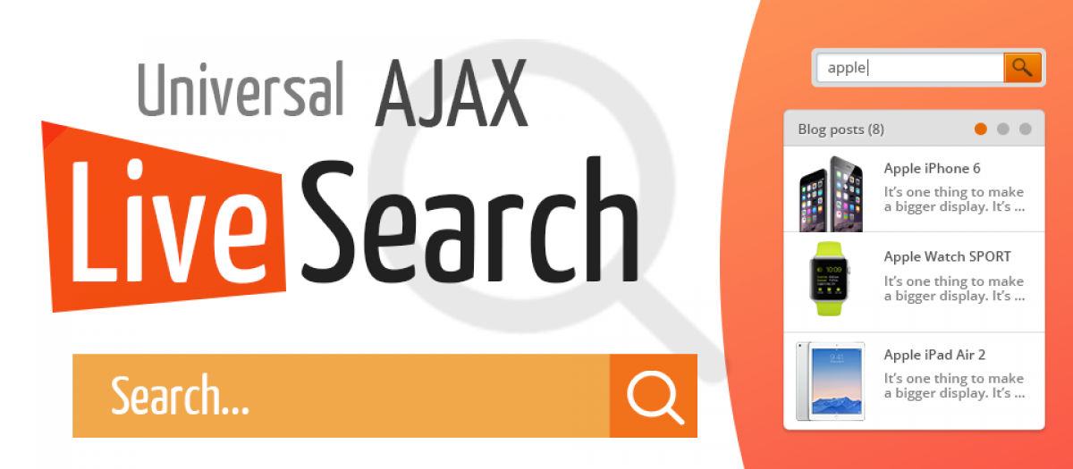 Universal AJAX Live Search