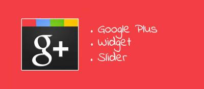 Google Plus Widget Slider