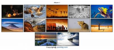 Joombig album like image gallery