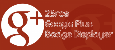2Bros Google Plus Badge Displayer