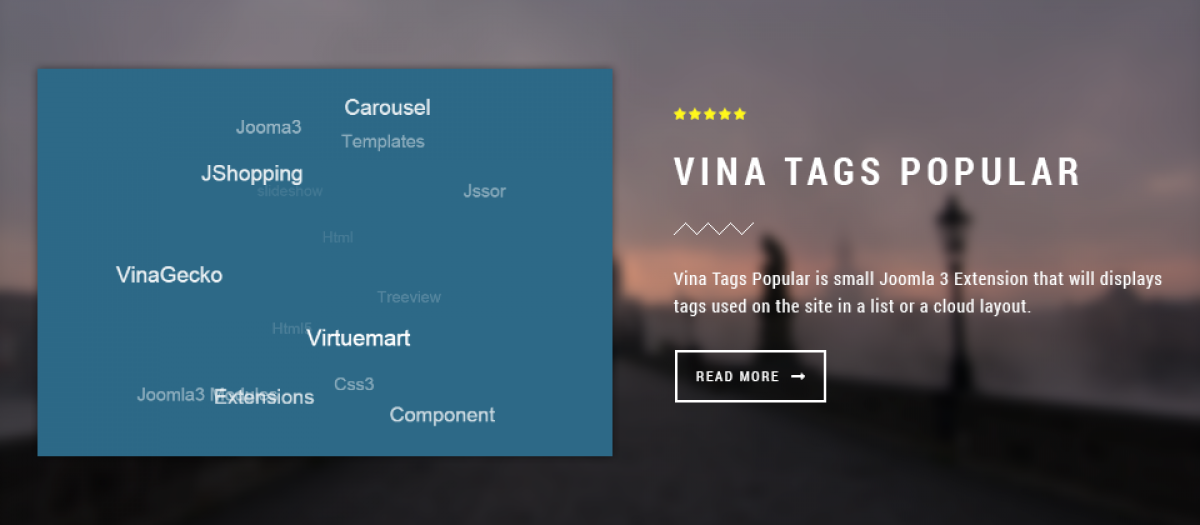 Vina Tags Popular, by VinaGecko com - Joomla Extension Directory