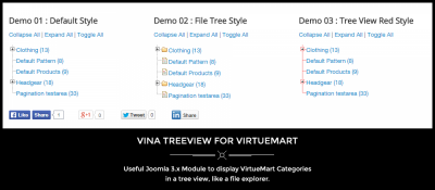 Vina Treeview for VirtueMart