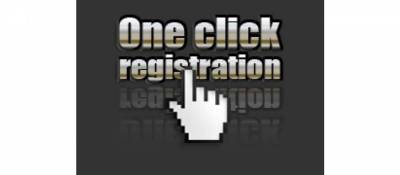 One click registration