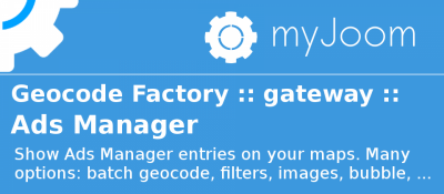Geocode Factory 5 gateway for AdsManager