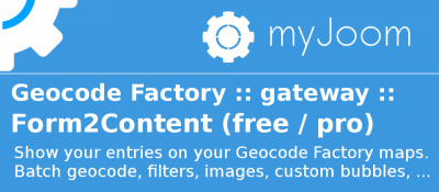Geocode Factory 5 gateway for Form2Content