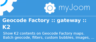 Geocode Factory 5 gateway for K2