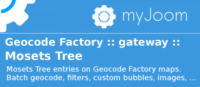 Geocode Factory 5 gateway for Mosets Tree