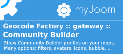 Geocode Factory 5 gateway for Community Builder