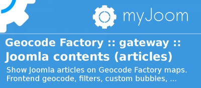 Geocode Factory 5 gateway for Joomla Articles