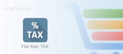 Flat Rate Tax for PayCart