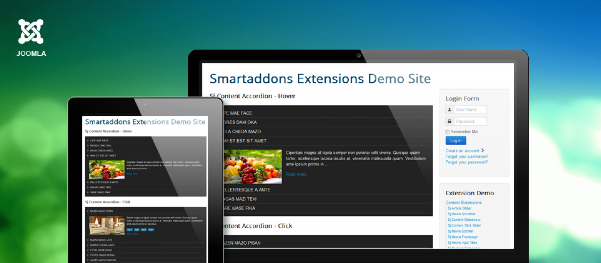 SJ Content Accordion, by SmartAddons - Joomla Extension