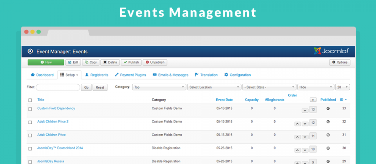 Event Booking, by Ossolution Team - Joomla Extension Directory