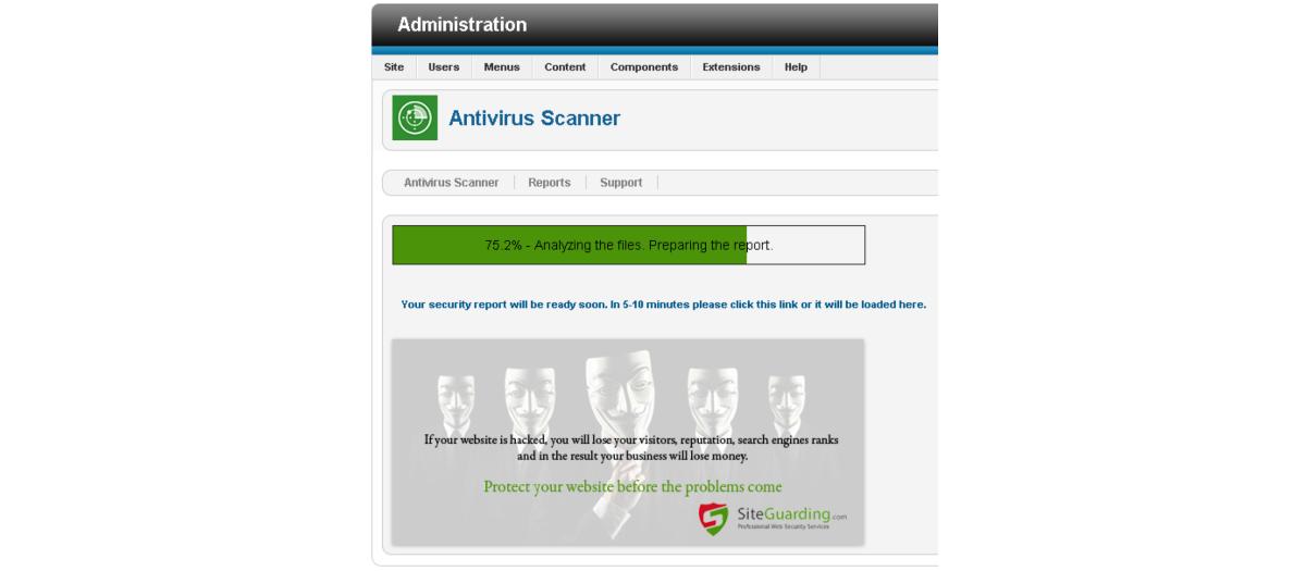 Antivirus Website Protection, by SafetyBis Ltd  - Joomla