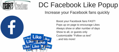 DC Facebook Like Popup
