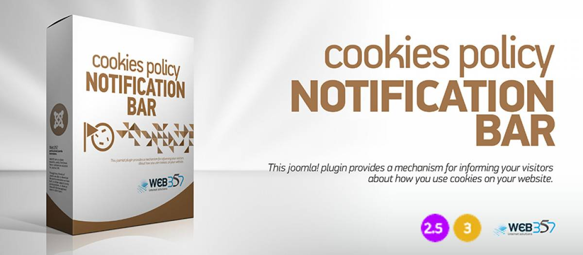 Cookies Policy Notification Bar, by Web357 - Joomla