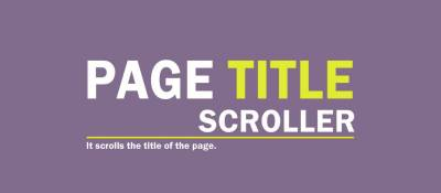 Page Title Scroller