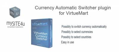 Currency Automatic Switcher for VirtueMart