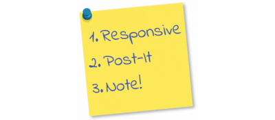 Responsive Post-it Note