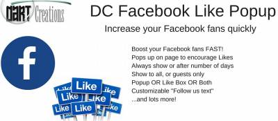 DC Facebook Like Box Popup