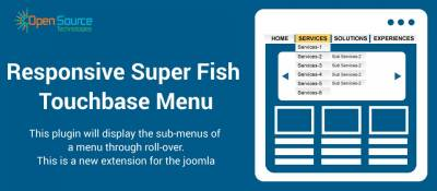 Responsive SuperFish Touchbase Menu