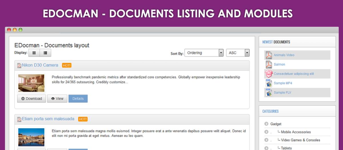 EDocman, by Ossolution Team - Joomla Extension Directory