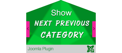 Show Next Previous Category for Joomla