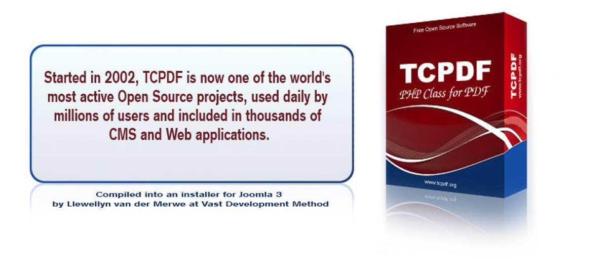 TCPDF Library, by Llewellyn van der Merwe - Joomla Extension Directory