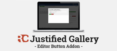 Editor Button Addon for RC Justified Gallery