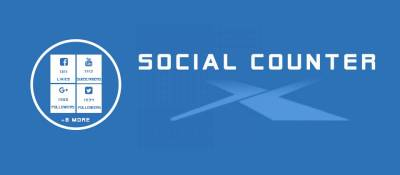 JUX Social Counter