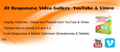 JO Responsive Video Gallery YouTube & Vimeo