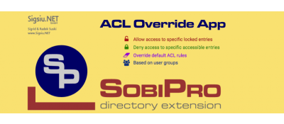 ACL Override Application for SobiPro