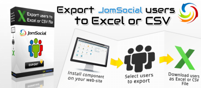 Export users from JomSocial to Excel or csv file