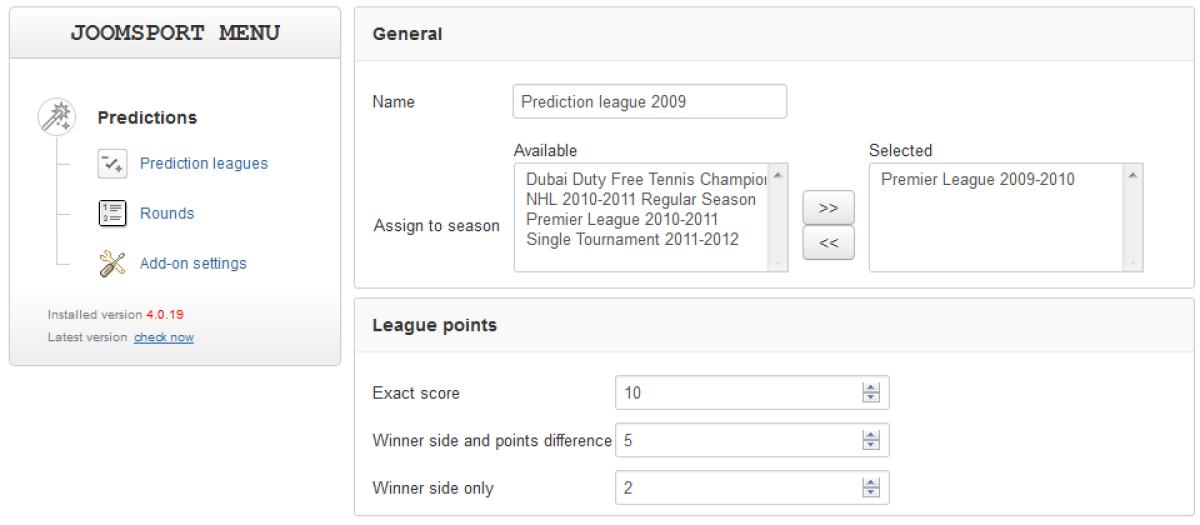 Sport Predictions for JoomSport, by BearDev - Joomla Extension Directory
