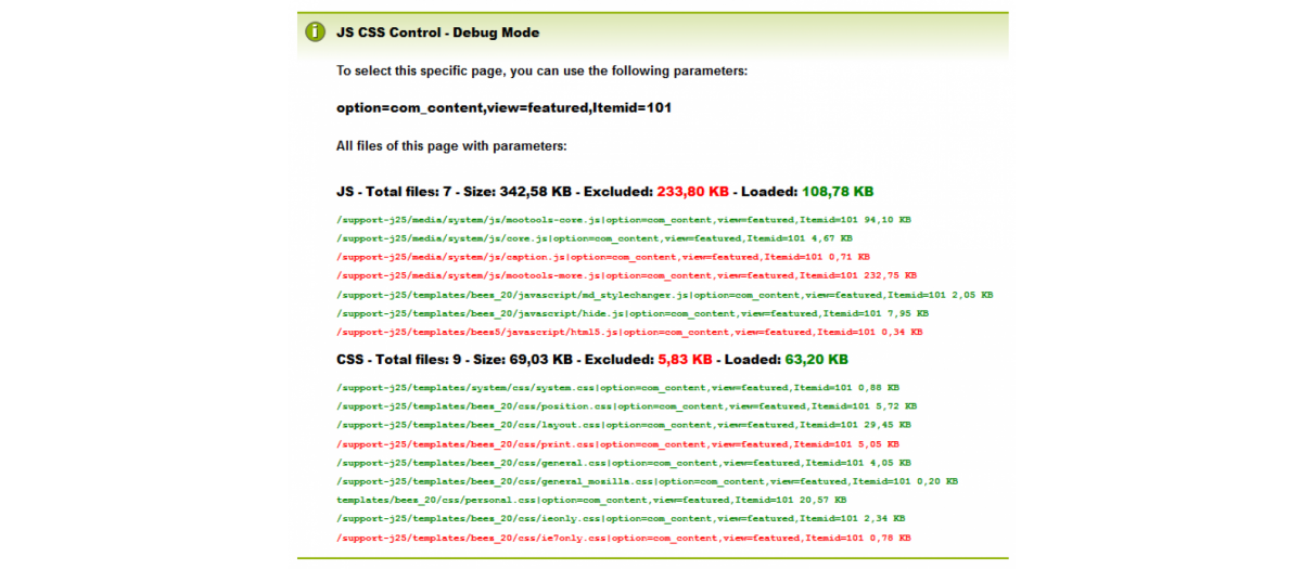 JCC - JS CSS Control, by Viktor Vogel - Joomla Extension