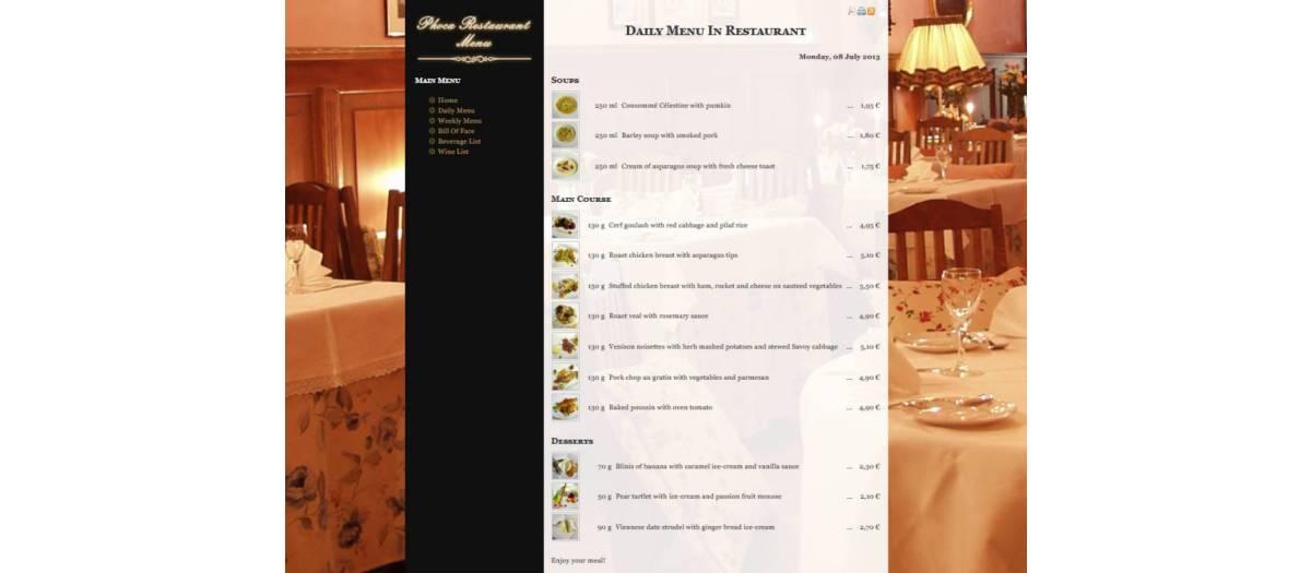 ed4322604 Phoca Restaurant Menu Lite, by Jan Pavelka - Joomla Extension Directory