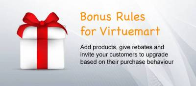Bonus Rules for Virtuemart