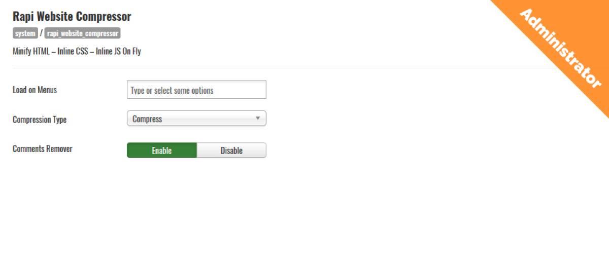 Rapi Website Compressor, by RapiCode - Joomla Extension