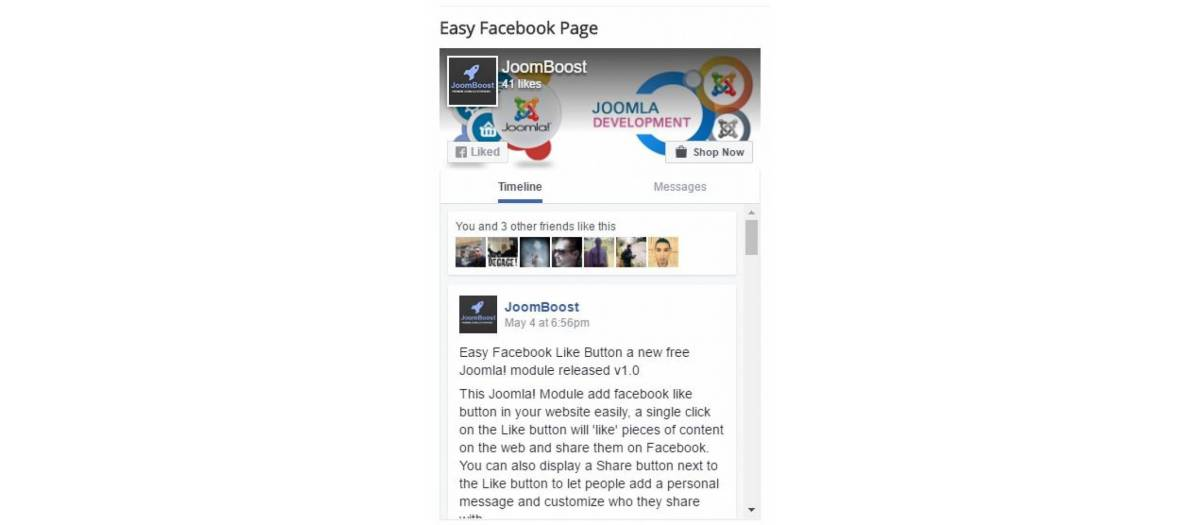 Easy Facebook Page, by JoomBoost - Joomla Extension Directory