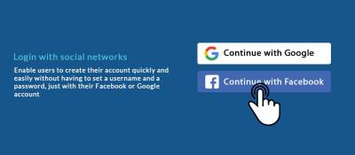 Login with social networks