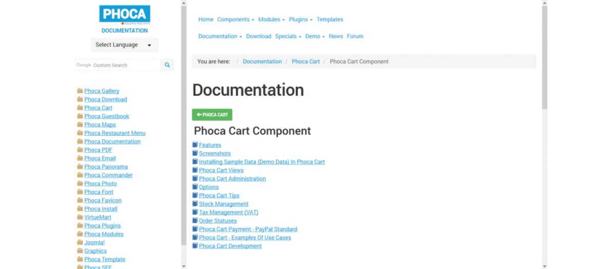 Phoca Documentation Category, by Jan Pavelka - Joomla