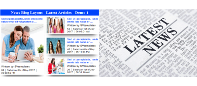 News Blog Layout - Latest Articles