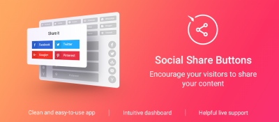 Elfsight Social Share Buttons