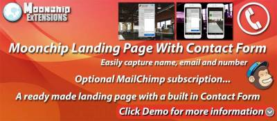 Moonchip Landing Page With Contact Form