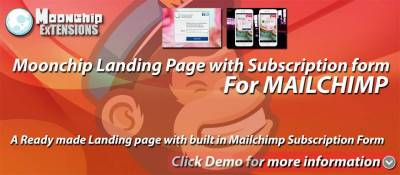Moonchip Landing Page with Subscription form