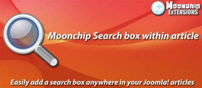 Moonchip Search box within article