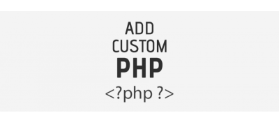 Add Custom PHP